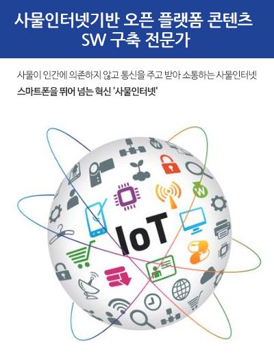 사물인터넷기반 오픈 플래폼 콘텐츠 SW 구축 전문가 - 사물이 인간에 의존하지 않고 통신을 주고 받아 소통하는 사물인터넷 스마트폰을 뛰어넘는 혁신'사물인터넷'